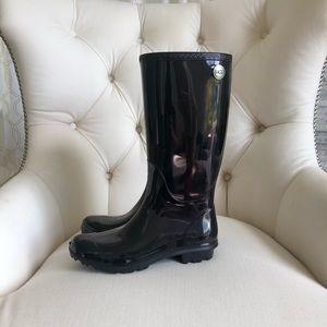 Ugg black tall rain boots